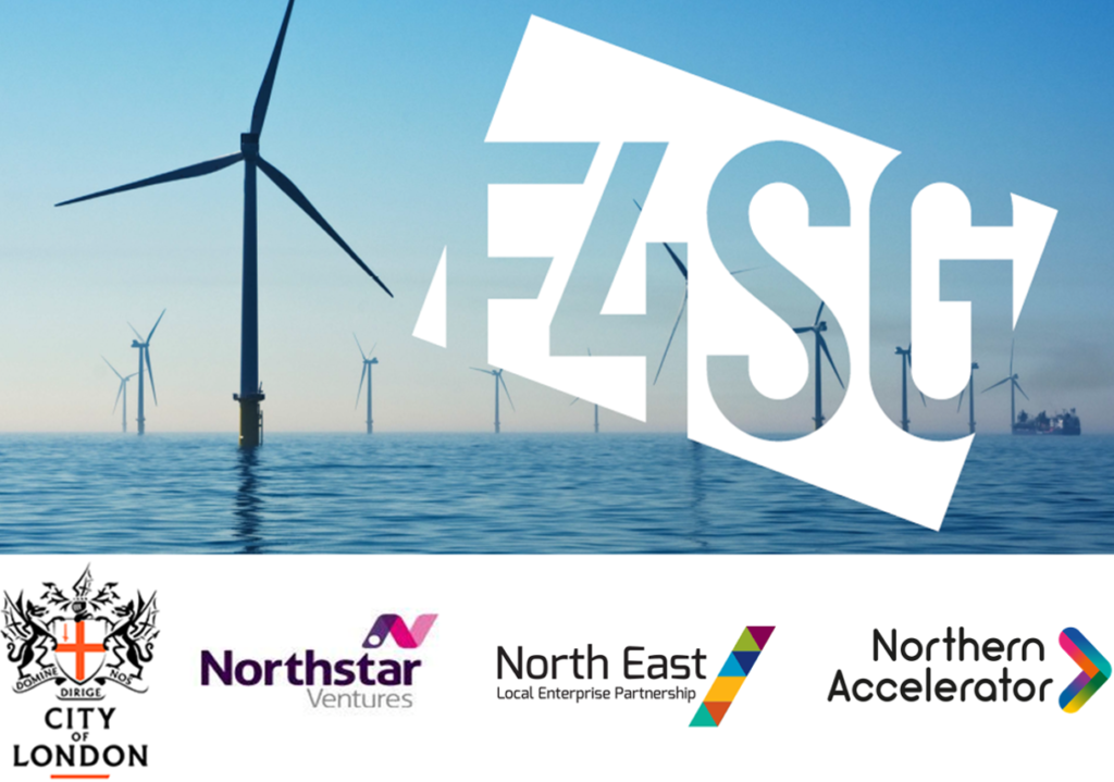 F4SG logo with partner logos City of London, Northstar Ventures, North East LEP and Northern Accelerator